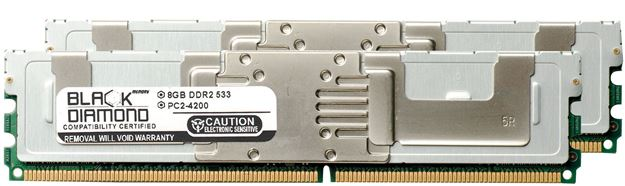 Picture of 16GB Kit (2x8GB) DDR2 533 (PC2-4200) Fully Buffered Memory 240-pin (2Rx4)