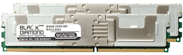 Picture of 16GB Kit (2x8GB) DDR2 667 (PC2-5300) Fully Buffered Memory 240-pin (2Rx4)