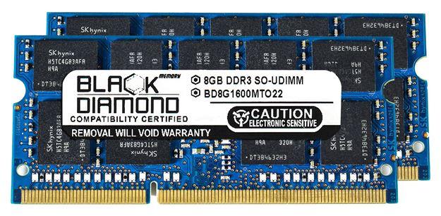 Picture of 16GB Kit (2x8GB) DDR3 1600 (PC3 12800) ECC SODIMM Memory 204-pin (2Rx8)