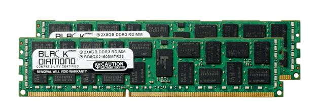 Picture of 16GB Kit (2x8GB) DDR3 1600 (PC3-12800) ECC Registered Memory 240-pin (2Rx4)