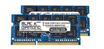 Picture of 16GB Kit (2x8GB) DDR3 1866 (PC3 14900) ECC SODIMM Memory 204-pin (2Rx8)