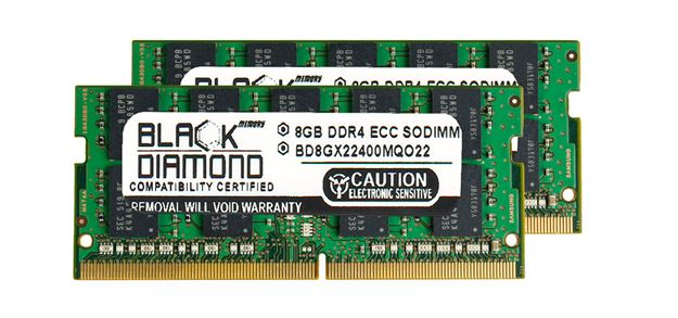 Picture of 16GB Kit (2x8GB) DDR4 2400 ECC SODIMM Memory 260-pin (2Rx8)