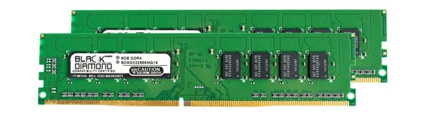 Picture of 16GB Kit (2x8GB) DDR4 2666 Memory 288-pin (2Rx8)