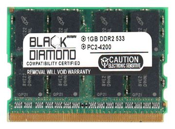 Picture of 1GB DDR2 533 (PC2-4200) Micro-Dimm Memory 172-pin (2Rx16)