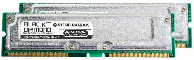 Picture of 1GB Kit(2X512MB) PC800 40ns ECC Memory 184-pin