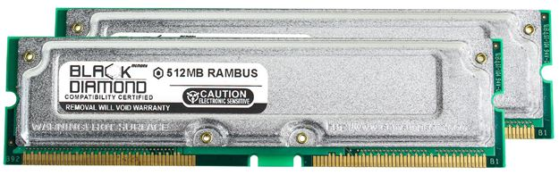 Picture of 1GB Kit(2X512MB) PC800 45ns ECC Memory 184-pin