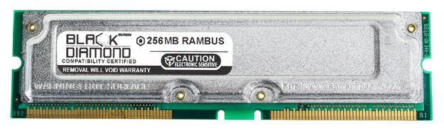Picture of 256MB Rambus PC800 40ns Memory 184-pin