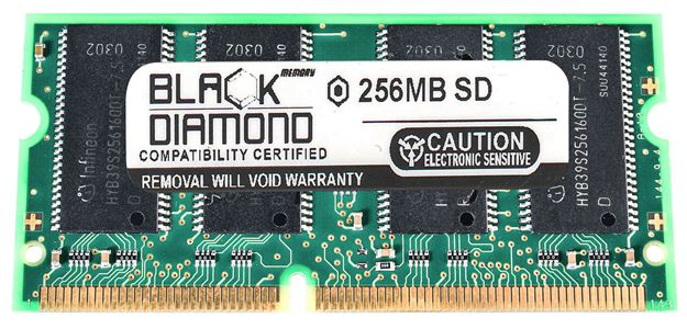 Picture of 256MB SDRAM PC133 SODIMM Memory 144-pin (1Rx16)