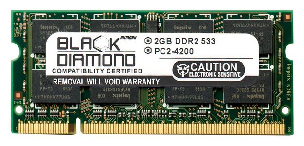 Picture of 2GB DDR2 533 (PC2-4200) SODIMM Memory 200-pin (2Rx8)