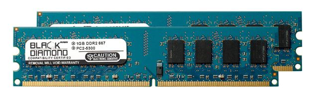Picture of 2GB Kit (2x1GB) DDR2 667 (PC2-5300) Memory 240-pin (2Rx8)