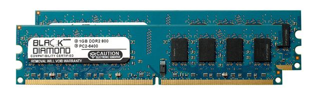 Picture of 2GB Kit (2x1GB) DDR2 800 (PC2-6400) Memory 240-pin (2Rx8)