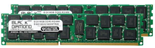 Picture of 32GB Kit (2x16GB) DDR3 1866 (PC3-14900) ECC Registered Memory 240-pin (2Rx4)