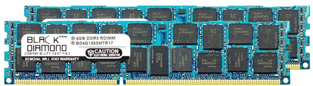 Picture of 4GB Kit (2x2GB) DDR3 1333 (PC3-10600) ECC Registered Memory 240-pin (1Rx4)