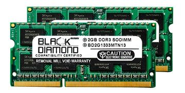Picture of 4GB Kit(2x2GB) DDR3 1333 (PC3-10600) SODIMM Memory 204-pin (2Rx8)