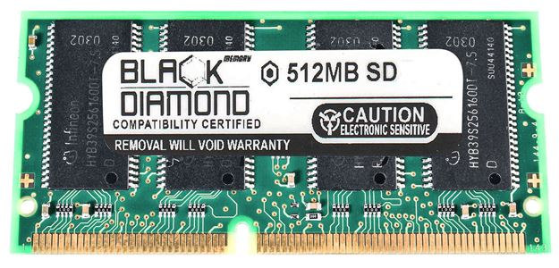 Picture of 512MB SDRAM PC133 SODIMM Memory 144-pin (2Rx8)