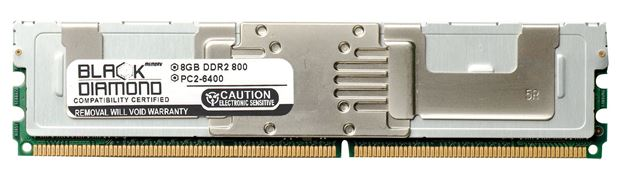 Picture of 8GB DDR2 800 (PC2-6400) Fully Buffered Memory 240-pin (2Rx4)