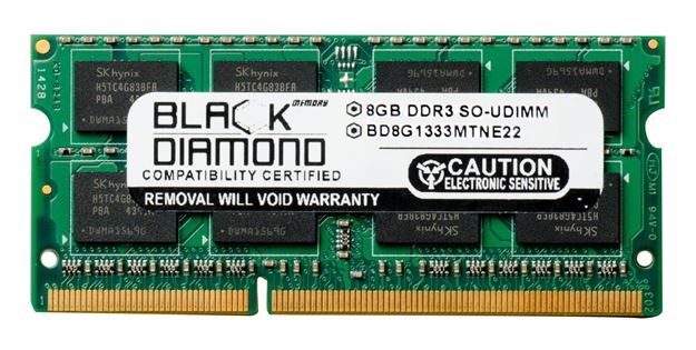 Picture of 8GB (2Rx8) DDR3 1333 (PC3-10600) ECC SODIMM Memory 204-pin