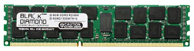 Picture of 8GB DDR3 1333 (PC3-10600) ECC Registered Memory 240-pin (4Rx8)