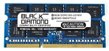 Picture of 8GB (2Rx8) DDR3 1866 (PC3-14900) ECC SODIMM Memory 204-pin