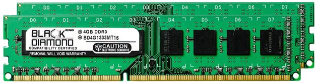 Picture of 8GB Kit(2x4GB) DDR3 1333 (PC3-10600) Memory 240-pin (2Rx8)