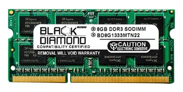 Picture of 8GB (2Rx8) DDR3 1333 (PC3-10600) SODIMM Memory 204-pin