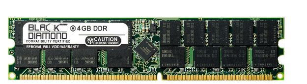 Picture of 4GB DDR 400 (PC-3200) ECC Registered Memory 184-pin (2Rx4)