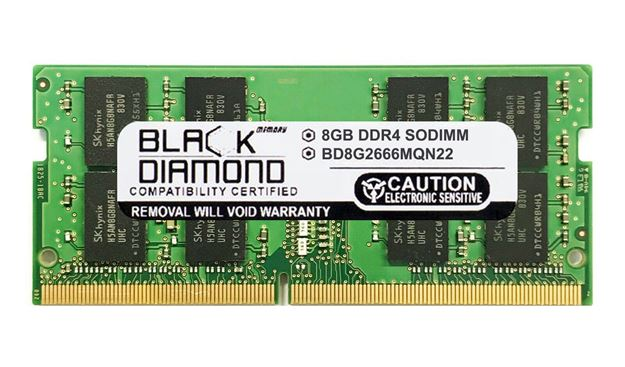 Picture of 8GB DDR4 2666 SODIMM Memory 260-pin (2Rx8)