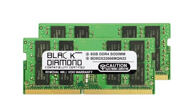 Picture of 16GB Kit (2x8GB) DDR4 2666 SODIMM Memory 260-pin (2Rx8)