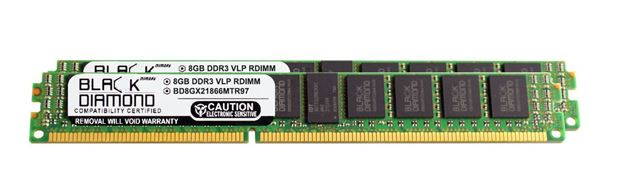 Picture of 16GB Kit (2x8GB) DDR3 1866 (PC3-14900) ECC Registered VLP Memory 240-pin (2Rx4)